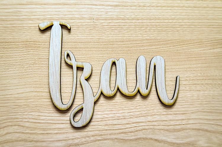 Corte nombre en madera