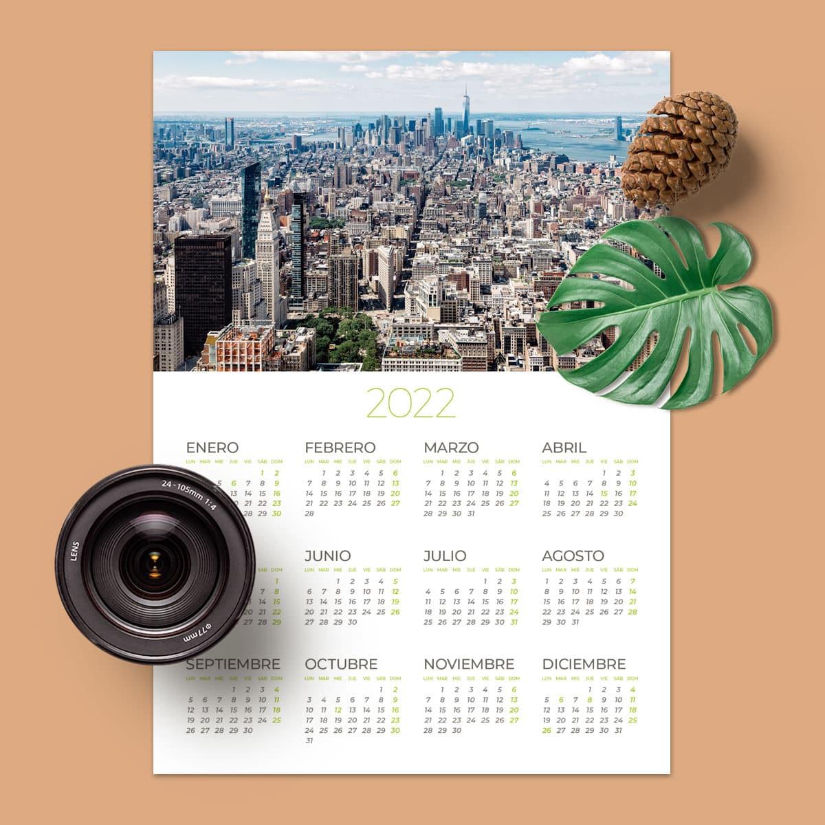 Calendario 32×45 cm Crome Pro horizontal.