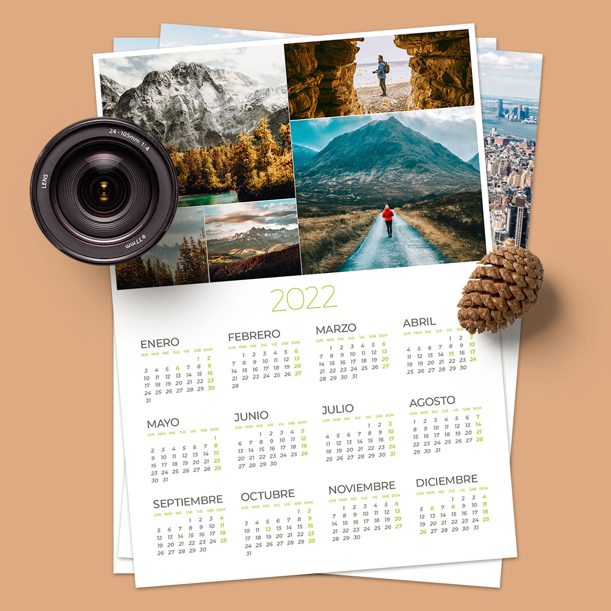 Calendario 50×70 5 Fotos Crome pro