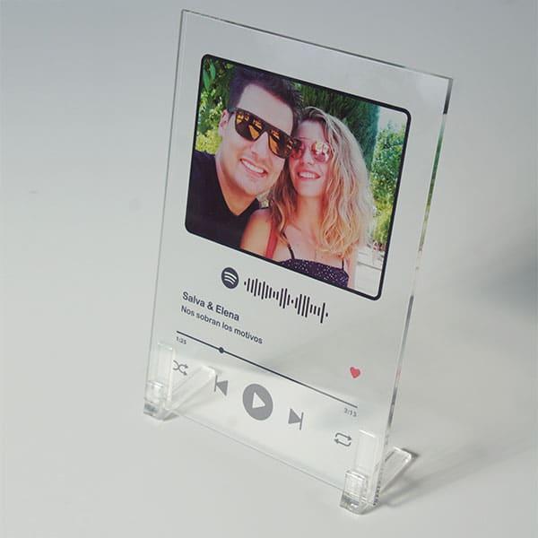 Spotify Metacrilato 10×15 5mm con soportes